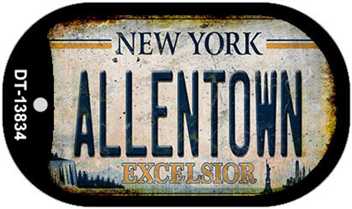 Allentown Excelsior New York Rusty Novelty Metal Dog Tag Necklace