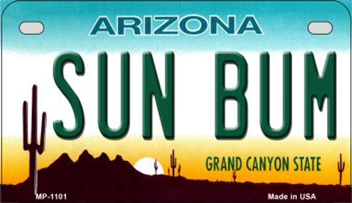 Sun Bum Arizona Metal Novelty Motorcycle License Plate Tag MP-1101