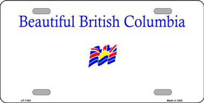 British Columbia Novelty Background Metal License Plate