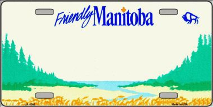 Manitoba Novelty Background  Metal License Plate