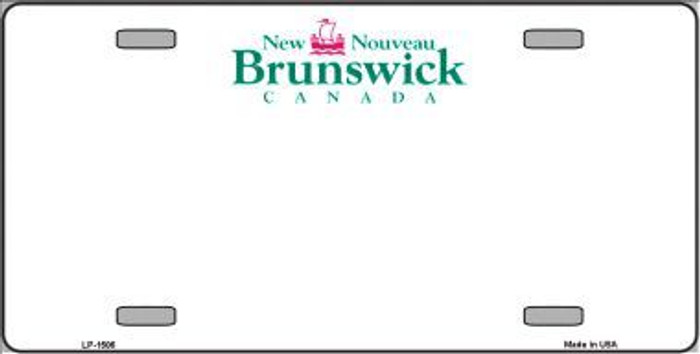 New Brunswick Novelty Background Metal License Plate