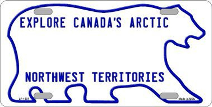Northwest Territories Novelty Background Metal License Plate