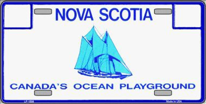 Nova Scotia Novelty Background Metal License Plate