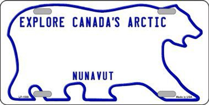 Nunavut Novelty Background Metal License Plate