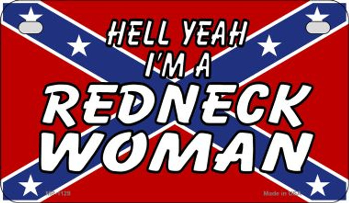 Redneck Woman Metal Novelty Motorcycle License Plate Tag MP-1129