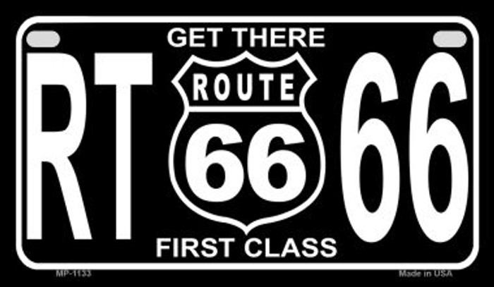 Get There First Class Metal Novelty Motorcycle License Plate Tag MP-1133