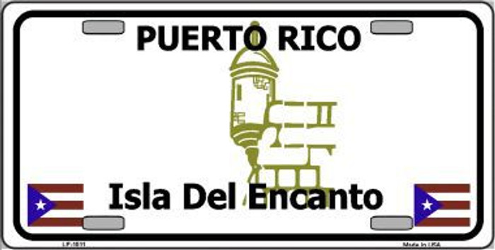 Puerto Rico Novelty Background Metal License Plate
