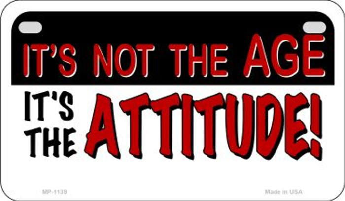 Its The Attitude Metal Novelty Motorcycle License Plate Tag MP-1139