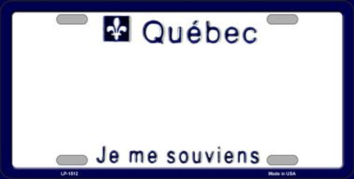 Quebec Novelty Background Metal License Plate