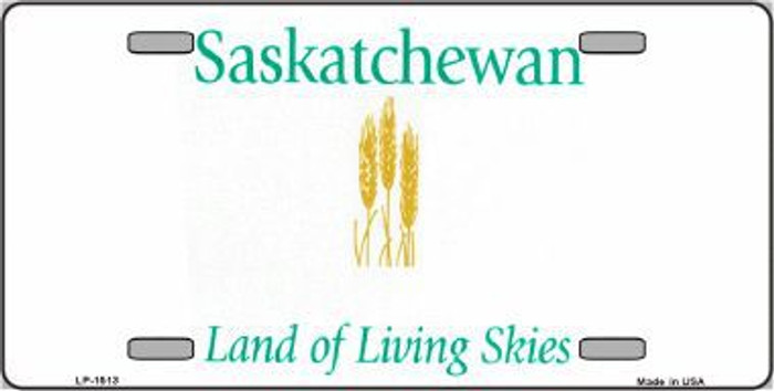 Saskatchewan Novelty Background Metal License Plate