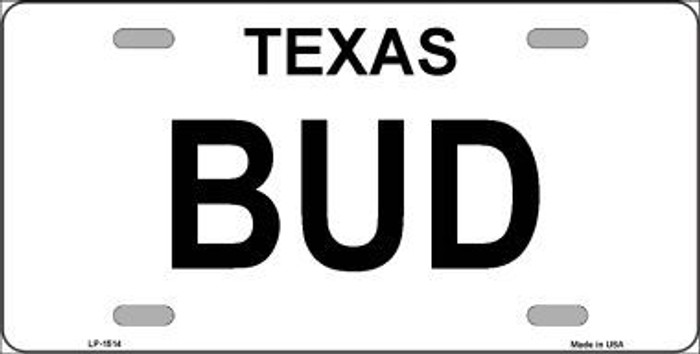 BUD Metal License Plate