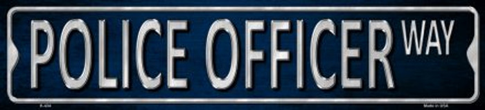 Police Officer Metal Novelty Street Sign
