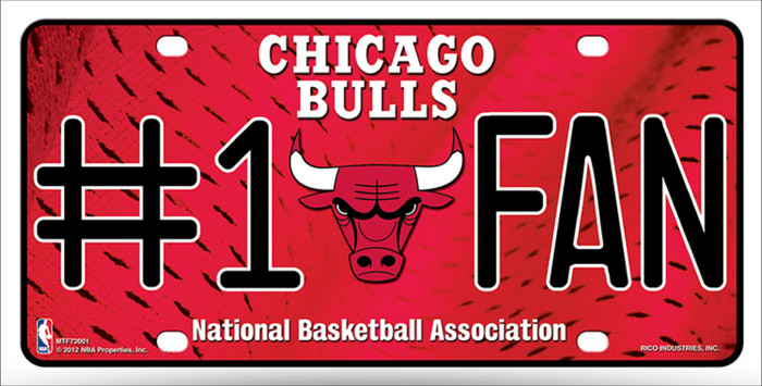 Chicago Bulls Fan Metal Novelty License Plate LP-1520