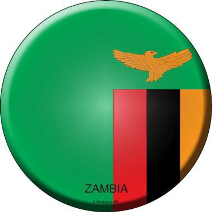 Zambia Country Novelty Metal Circular Sign