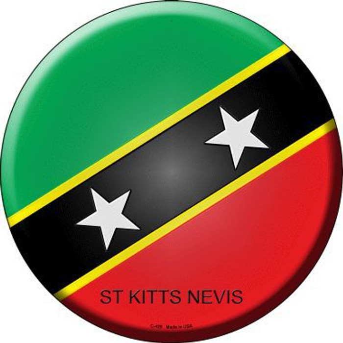St Kitts Nevis Country Novelty Metal Circular Sign