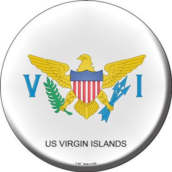 US Virgin Islands Country Novelty Metal Circular Sign