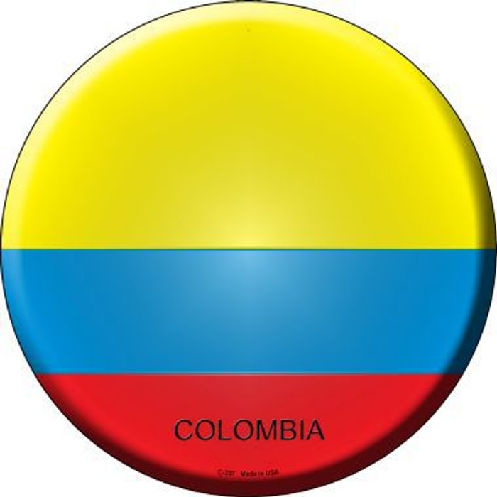 Colombia Country Novelty Metal Circular Sign