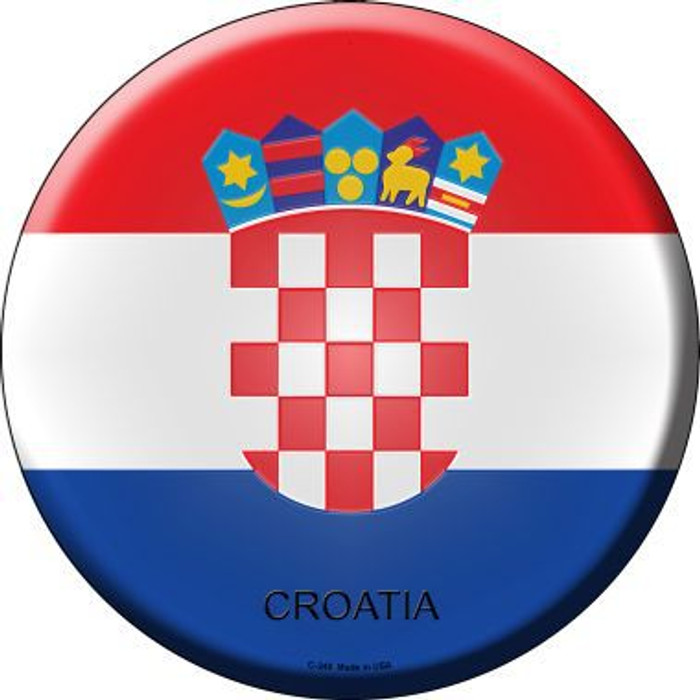 Croatia Country Novelty Metal Circular Sign