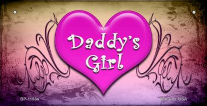Daddys Girl Novelty Metal Bicycle License Plate BP-11534
