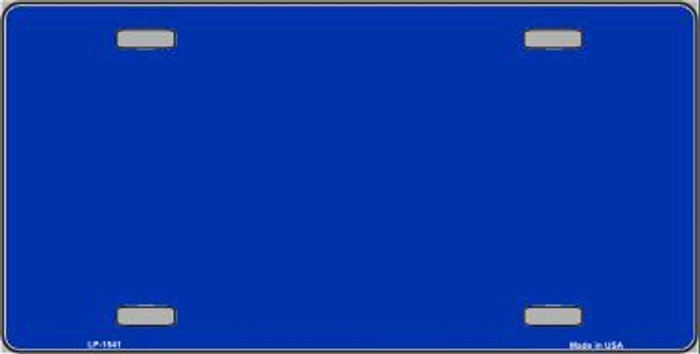 Royal Blue Solid Print Metal Novelty License Plate