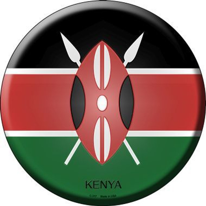 Kenya Country Novelty Metal Circular Sign