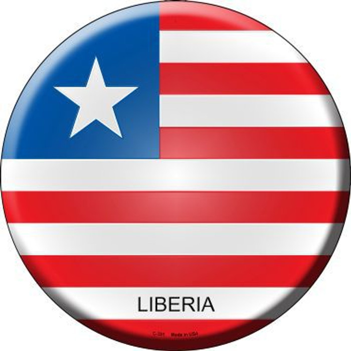 Liberia Country Novelty Metal Circular Sign