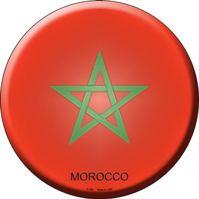 Morocco Country Novelty Metal Circular Sign