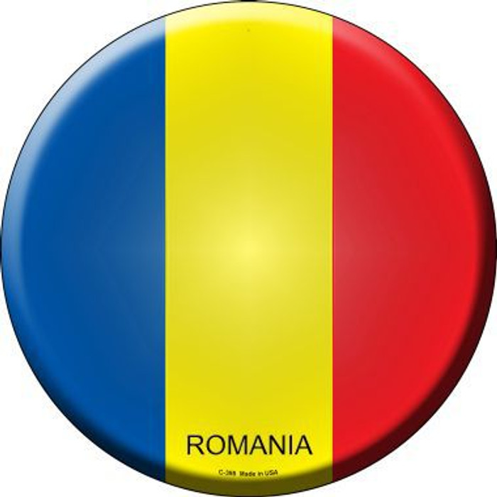 Romania Country Novelty Metal Circular Sign