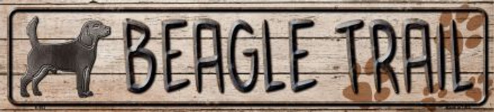 Beagle Trail Novelty Metal Small Street Sign