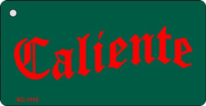 Caliente Mini License Plate Metal Key Chain