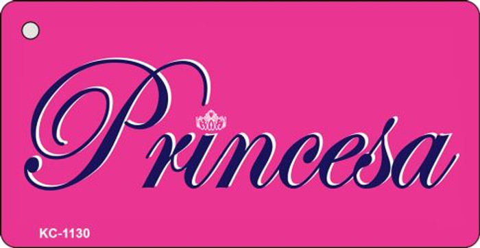 Princesa Mini License Plate Metal Key Chain
