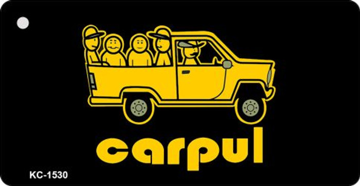 Carpul Mini License Plate Metal Key Chain