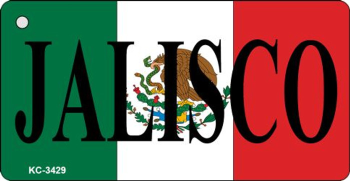 Jalisco Mini License Plate Metal Key Chain