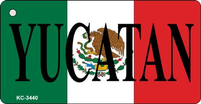 Yucatan On Flag Mini License Plate Metal Key Chain