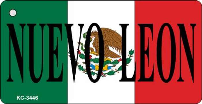 Nuevo Leon On Flag Mini License Plate Metal Key Chain