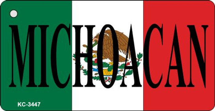 Michoacan On Flag Mini License Plate Metal Key Chain