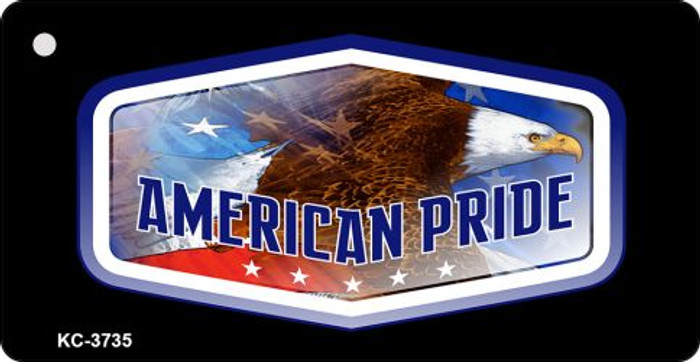 American Pride Mini License Plate Metal Novelty Key Chain