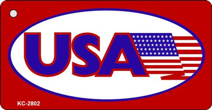 USA Mini License Plate Metal Novelty Key Chain