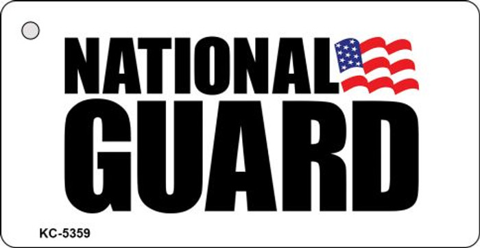 National Guard Mini License Plate Metal Novelty Key Chain