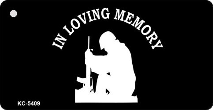 Loving Memory Sitting Mini License Plate Metal Novelty Key Chain