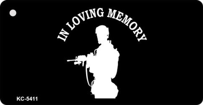 Loving Memory Standing Mini License Plate Metal Novelty Key Chain
