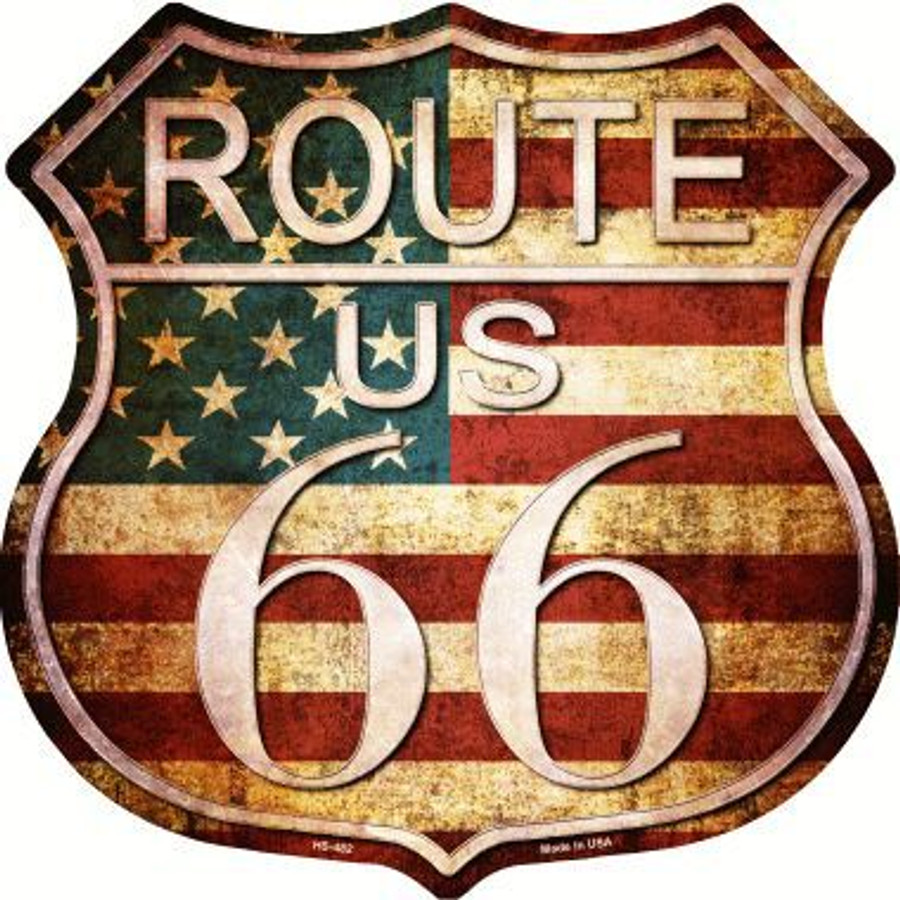 Route 66 American Vintage Metal Novelty Highway Shield