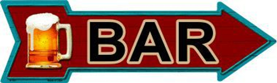 Bar Novelty Metal Arrow Sign