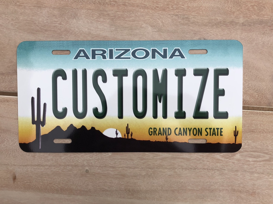 "Personalized Design Your Own Custom STANDARD SIZE 12"" x 6"" Novelty Automotive Aluminum License Plate Tag"