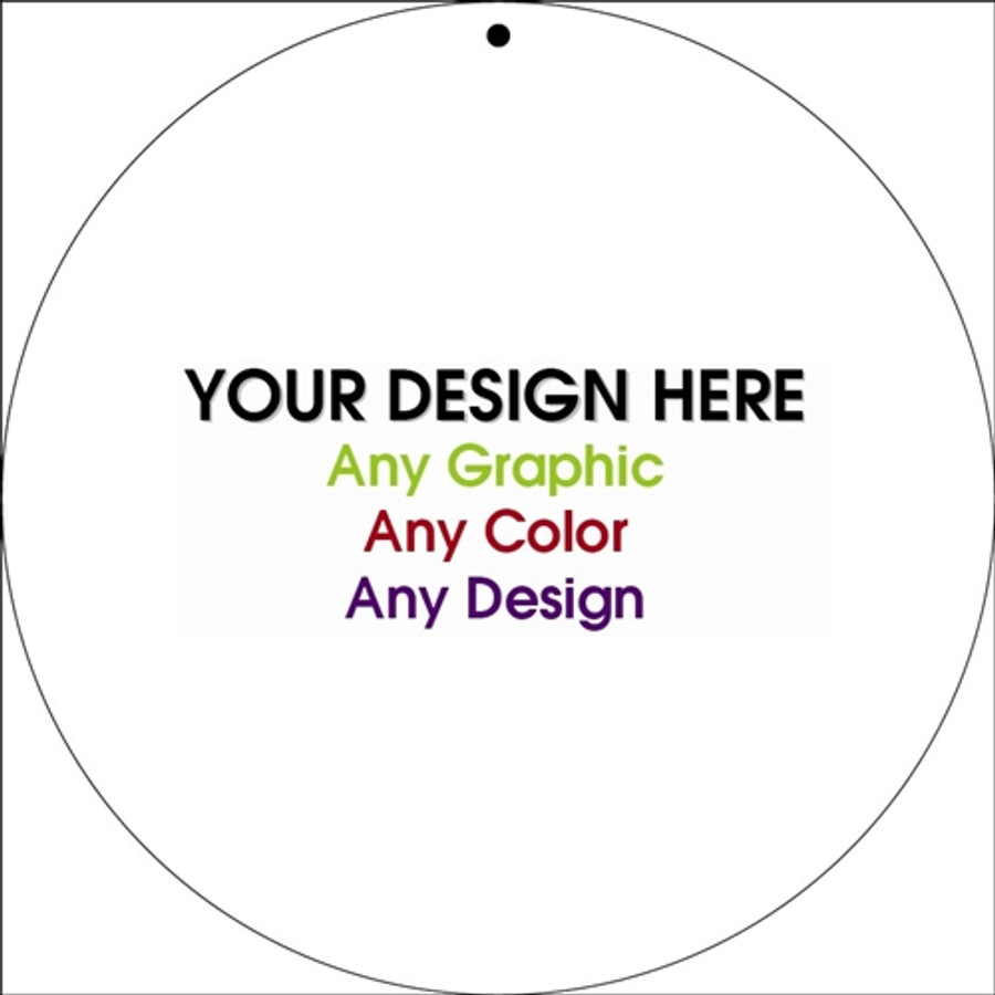 """Personalized Design Your Own Custom 12"""" x 12"""" Novelty Circular Sign"""