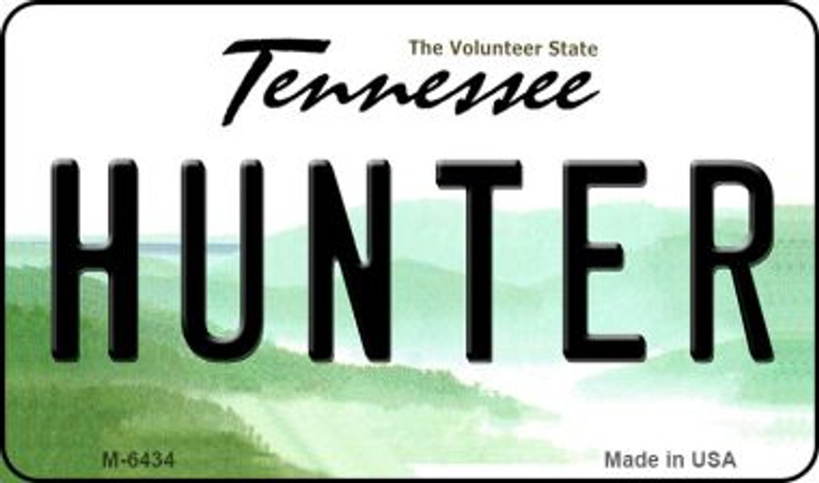 Hunter Tennessee State License Plate Magnet M-6434