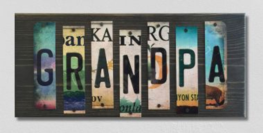 Grandpa License Plate Strip Novelty Wood Sign WS-001