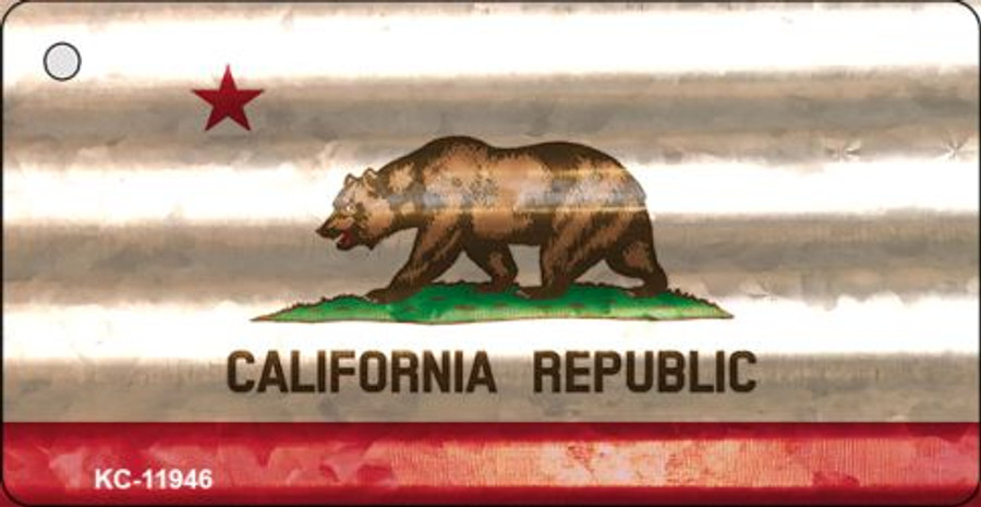 California Corrugated Flag Novelty Key Chain KC-11946