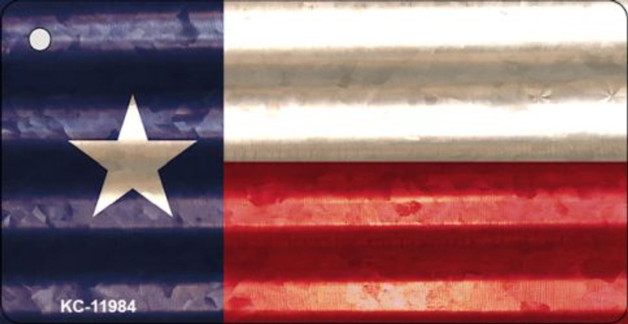 Texas Corrugated Flag Novelty Key Chain KC-11984
