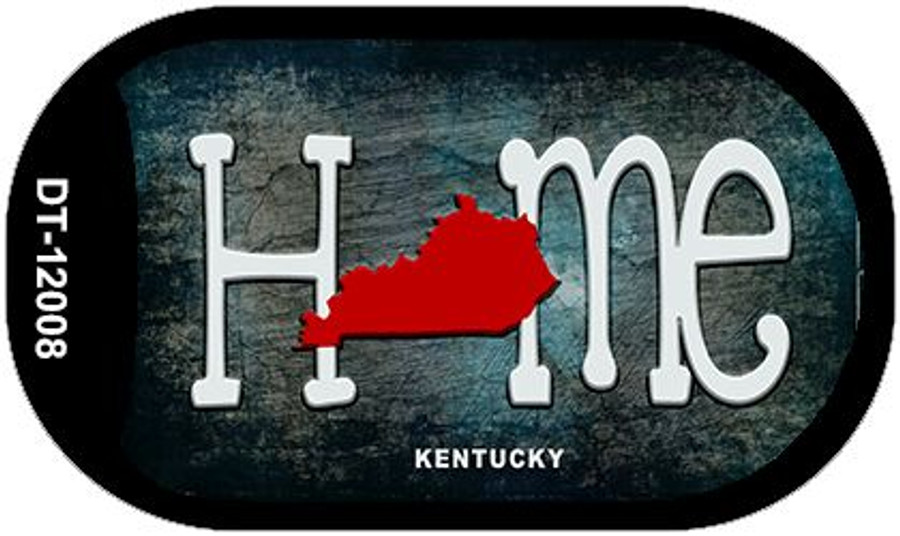 Kentucky Home State Outline Novelty Dog Tag Necklace DT-12008